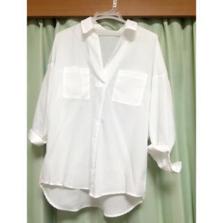 バビロン(BABYLONE)の衿抜きシャツ 白 シャツ 今季商品♡(シャツ/ブラウス(長袖/七分))