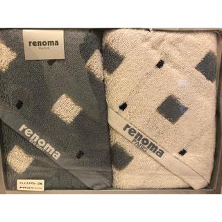 レノマ(RENOMA)のレノマパリス renoma  フェイスタオル 2枚セット 新品(タオル/バス用品)