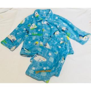 サンリオ(サンリオ)のサンリオ 新幹線ふわもこパジャマ100長袖パジャマ冬あったかパジャマ乗り物電車車(パジャマ)