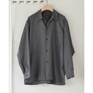 コモリ(COMOLI)のcomoli コモリ ヨリ杢 オープンカラーシャツ サイズ 2(シャツ)