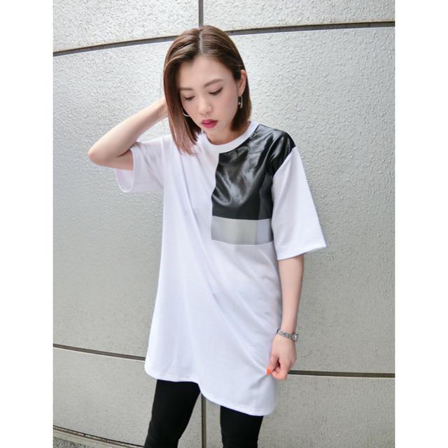 CALEE(キャリー)のエモダ EMODA Tシャツ Tシャツワンピ ワンピース カラープリントTシャツ レディースのトップス(Tシャツ(半袖/袖なし))の商品写真