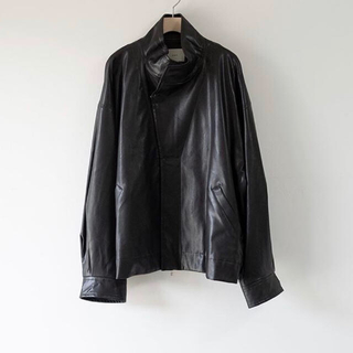 サンシー(SUNSEA)のstein Over Sleeve Fake Leather Jacket(レザージャケット)