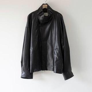 サンシー(SUNSEA)のstein Over Sleeve Fake Leather Jacket(レザージャケット)