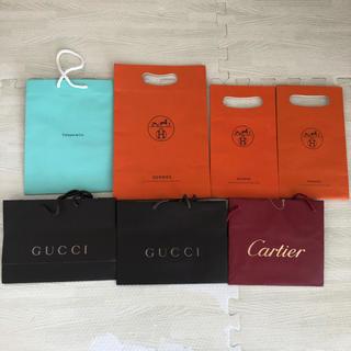 カルティエ(Cartier)のショップ袋 エルメス カルティエ GUCCI ティファニー(ショップ袋)