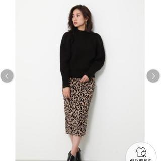 リエンダ(rienda)の【rienda】Leopard JQ Knit J/W SK (ロングスカート)