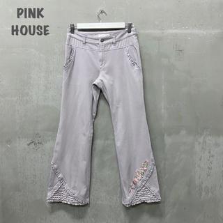 ピンクハウス(PINK HOUSE)の【PINK HOUSE】刺繍フリルパンツ ピンクハウス(その他)