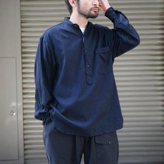 コモリ(COMOLI)のCOMOLI シルクネルプルオーバーシャツ 20AW(シャツ)