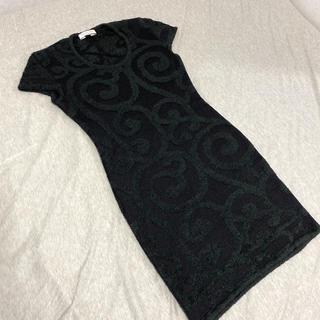 クリスチャンディオール(Christian Dior)のワンピース ニット クリスチャンディオール 半袖(ミニワンピース)