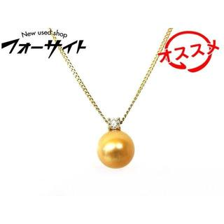 タサキ(TASAKI)の田崎 タサキ ネックレス ■ K18 YG ゴールデンパール 9.5mm(ネックレス)