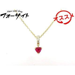 ヴァンドームアオヤマ(Vendome Aoyama)のヴァンドーム青山 ネックレス ■ ルビー ダイヤ K18 (ネックレス)