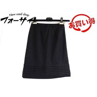 I4 エムプルミエ スカート ■ サイズ34 ブラック ドレープ(ひざ丈スカート)