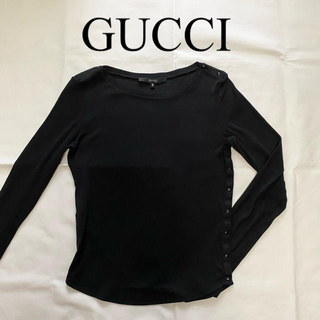 グッチ(Gucci)のGUCCI お洒落なシルク 長袖カットソー トップス(カットソー(長袖/七分))