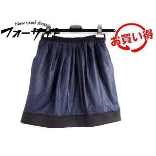 ランバンオンブルー(LANVIN en Bleu)のI5 ランバンオンブルー スカート ■ サイズ36 ポリエステル(ひざ丈スカート)