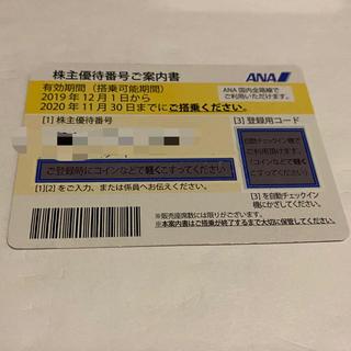エーエヌエー(ゼンニッポンクウユ)(ANA(全日本空輸))のANA 株主優待券 有効期間2021.5.31まで(航空券)