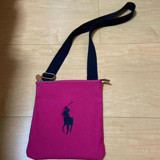 ポロラルフローレン(POLO RALPH LAUREN)のラルフローレン ショルダーバッグ バッグ ポロラルフローレン ピンク 紺(ショルダーバッグ)