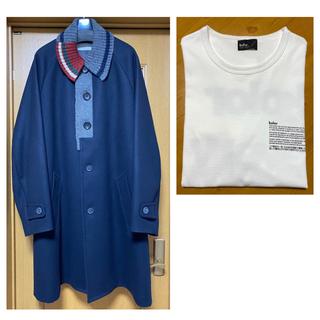 kolor - kolor 20aw ウールカシミヤコート+19aw Tシャツ