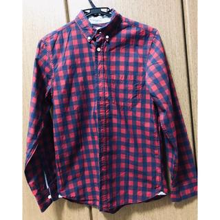 エイチアンドエム(H&M)のH&M  (L.O.G.G.) チェックシャツ(160)(ブラウス)