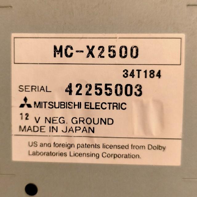 三菱(ミツビシ)のMITSUBISHI 2DIN カーステレオ 自動車/バイクの自動車(カーオーディオ)の商品写真