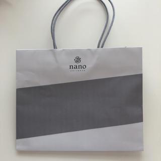 ナノユニバース(nano・universe)のナノユニバース  紙袋 ショップ袋(ショップ袋)