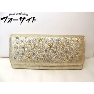 ジミーチュウ(JIMMY CHOO)のジミーチュウ 財布 ■ メタリックレザー ゴールド スタースタッズ(財布)