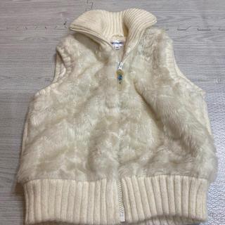 プティマイン(petit main)の袖なしのモコモココート ダウンコート ジャケット 130(コート)