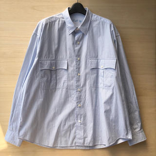 ポーター(PORTER)のPorter Classic ロールアップストライプシャツ ブルー(シャツ)