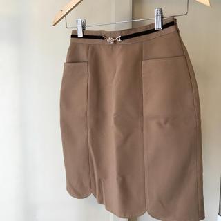 パターンフィオナ(PATTERN fiona)の値下げ【PATTERN fiona】タイトスカート ブラウン Sサイズ(ひざ丈スカート)