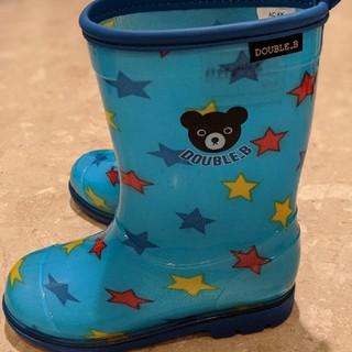 ダブルビー(DOUBLE.B)の子供/長靴/ダブルビー/18.0cm/青色(長靴/レインシューズ)