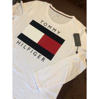トミーヒルフィガー(TOMMY HILFIGER)のTommy トミー ロゴ ロング Tee US/XLサイズ ユニセックス(Tシャツ(長袖/七分))