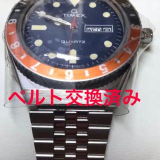 タイメックス(TIMEX)の【ベルト交換済み】TIMEX Q タイメックスキュー オレンジ(腕時計(アナログ))