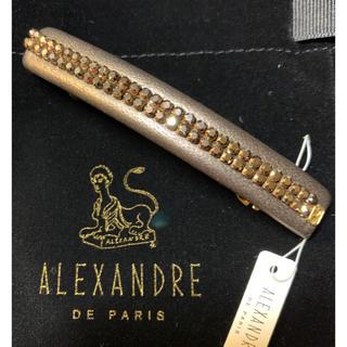 アレクサンドルドゥパリ(Alexandre de Paris)の新品☆ アレクサンドル ドゥ パリ スワロフスキー レザーバレッタ(バレッタ/ヘアクリップ)
