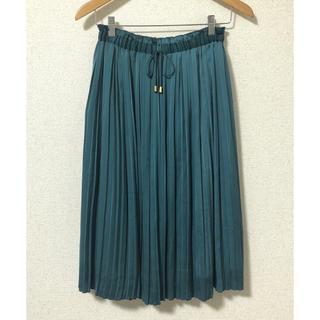 SunaUna - 【キズあり】SunaUna〈スーナウーナ〉光沢プリーツロングスカート