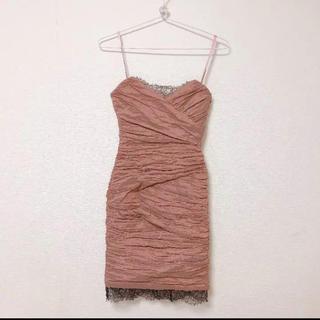 ビーシービージーマックスアズリア(BCBGMAXAZRIA)のBCBG MAXAZRIA ワンピース ドレス 美品(ひざ丈ワンピース)