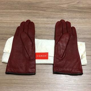 コーチ(COACH)の新品 レザー 手袋(手袋)