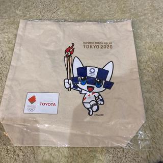 トヨタ(トヨタ)の東京オリンピック TOYOTA コットンバッグ ミライトワ(ノベルティグッズ)