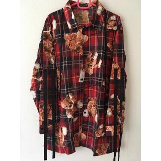 ミルクボーイ(MILKBOY)のTRAVAS TOKYO クマ BEAR リボン チェック シャツ(シャツ/ブラウス(長袖/七分))