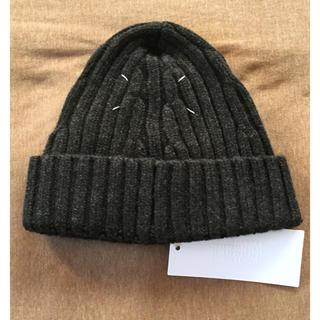 マルタンマルジェラ(Maison Martin Margiela)のL新品 メゾン マルジェラ リブ ニットキャップ ニット帽 グレー メンズ(ニット/セーター)