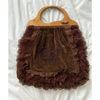 ロキエ(Lochie)のvintage wood handle bag(ハンドバッグ)