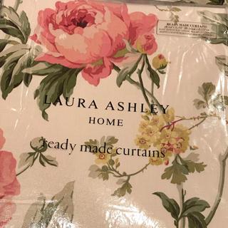 ローラアシュレイ(LAURA ASHLEY)の〈専用です〉ピオニーガーデンクランベリー レディメイドカーテン2セット(カーテン)