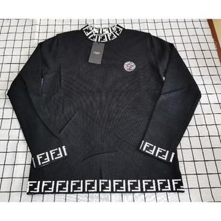 フェンディ(FENDI)の人気品Fendiフェンデイニットセーター ブラック メンズ カコイイ(ニット/セーター)