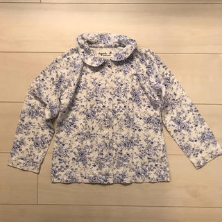 アニエスベー(agnes b.)のアニエスベー 花柄長袖シャツ 6(ブラウス)