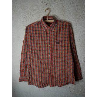 ウールリッチ(WOOLRICH)のo1581 WOOLRICH チェック シワ加工 シアサッカー デザイン(シャツ)