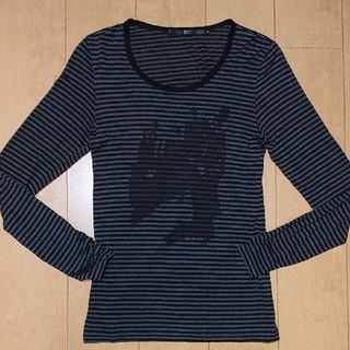 ノーアイディー(NO ID.)の一度のみ使用 美品 NO ID. ボーダーT kiryuyrik SHELLAC(Tシャツ/カットソー(半袖/袖なし))