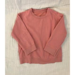 ユニクロ(UNIQLO)のUNIQLO 裏起毛ピンクトップス 100(Tシャツ/カットソー)