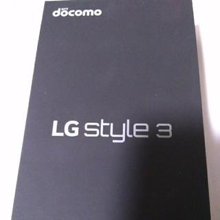 エルジーエレクトロニクス(LG Electronics)のドコモ LG style3 L-41A ミラーブラック(スマートフォン本体)