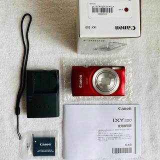 Canon - 【美品】Canon コンパクトデジタルカメラ IXY 200 レッド 光学8倍