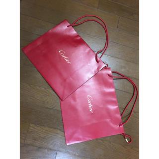 カルティエ(Cartier)のCartier 紙袋 2枚セット(ショップ袋)