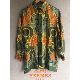 エルメス(Hermes)のHermes エルメス シルク 総柄 シャツ(シャツ)
