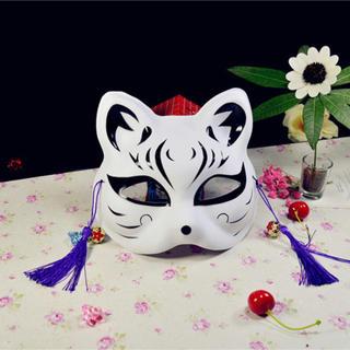 キツネ 面 狐 狐面 猫 縁日 お祭り 巫女 お面 ハロウィン(小道具)