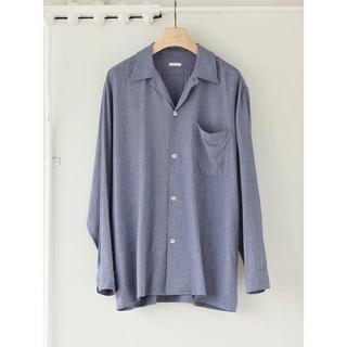 コモリ(COMOLI)のCOMOLI 20AWヴィスコースウールオープンカラーシャツ サイズ2(シャツ)